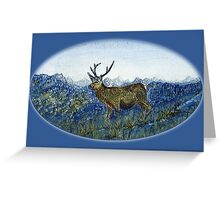 Red Deer on the Cabrach Greeting Card