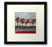 Winter Day Walk, mixed media on canvas Framed Print