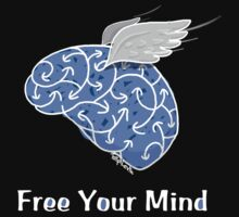 Free Your Mind T-Shirt by TsipiLevin