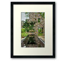 Chanticleer Castle Ruins Garden Framed Print