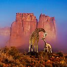 GIRAFFES IN THE MIST by Michael Sheridan