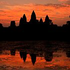 Greeting The Dawn At Angkor Wat  by Gina Ruttle  (Whalegeek)