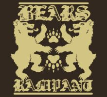 Bears Rampant (light print) by Alexander Evans