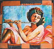 girls with flute F.Kalemi22 by Petrit  Metohu