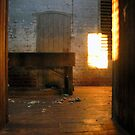 Sun warming  the woolshed by Julie Sleeman