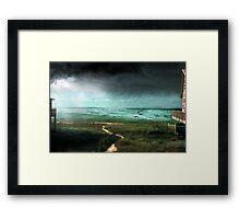 Rain Storm (an image & a poem) Framed Print
