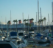 Queen Mary at Long Beach Marina by sunriserjay