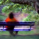 woman on a park bench by carol brandt