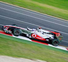 Jenson Button by Dean Perkins