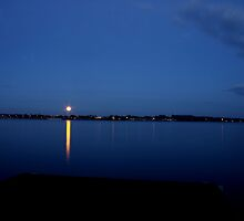 Blue Dawn over Lake Mulwala by Gursel Ali