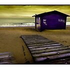 Beach Chalet along the Costa Blanca Coast Near Guardamar del Segura by Mal Bray