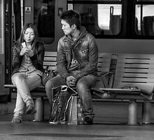 Waiting ... for a train by Sarah  Dawson