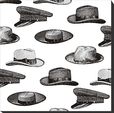 Wallpaper design - hats by Esther Boshoff