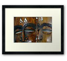 Masks Framed Print