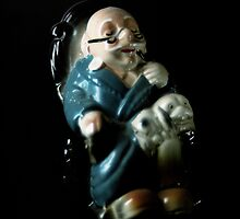 Flowers in the Window - Grandfather Figurine II by Roy Salter