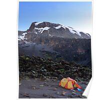 Camp at Breakfast Cliffs, Mount Kilimanjaro Poster