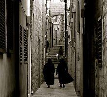Nuns in Dubrovnik by Scott Taylor