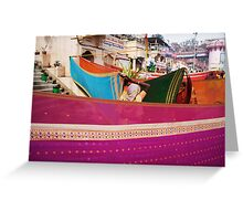 Fragments of Richness: An Indian Expose - vibrancy (saris) Greeting Card