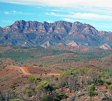 Bunyeroo Valley and Heysen Range , Flinders Ranges, South Australia by Adrian Paul