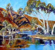 The Flinders Ranges After The Rains - Oil Painting by Kay Cunningham