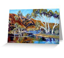 The Flinders Ranges After The Rains - Oil Painting Greeting Card