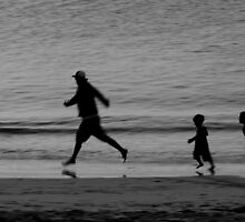 Dad & the Kids Black & White by Rob Beckett