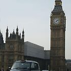 London Cab near Big Ben by Allen Lucas