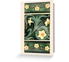 Ceramic Daffodils Greeting Card