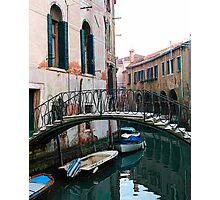 The Arched Bridge - Venice, Italy Photographic Print