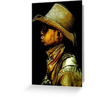 Golden Profile Greeting Card