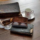 Old Books and Tea by Maria Schlossberg