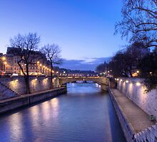 The Seine in the dusk by Irina-C