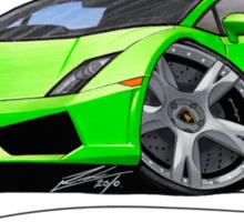 Lamborghini LP560/4 Lime Sticker