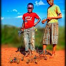 Boys with cars by JandeBeer