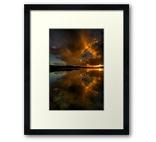 Golden Portrait - Narrabeen Lakes, Sydney - The HDR Experience Framed Print