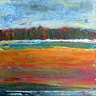 The picnic spot, mixed media on canvas by Sandrine Pelissier