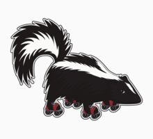 Skating Skunk by Debbie Jew