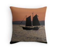 Evening Sail in Grand Marais, MN Throw Pillow