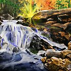 Tucker Brook Falls by Dave Lechko