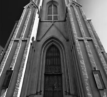 St Patrick's Church New Orleans B&W by GJKImages