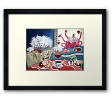 Yeti and Morning Coffee Framed Print