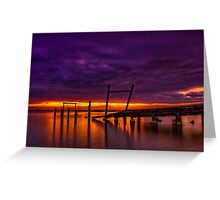 Dusk at Elwood Jetty #2 Greeting Card