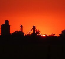 Sundown over silos (Mitiamo) by Julie Sleeman