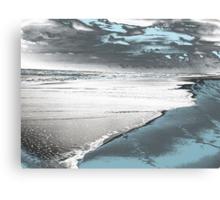 Silver Seascape I Canvas Print