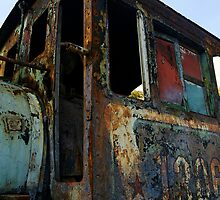 Rusting Train, Havana, Cuba by buttonpresser