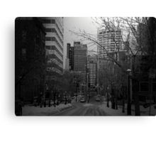 Cityscapes - The Cold Took Over the City Canvas Print