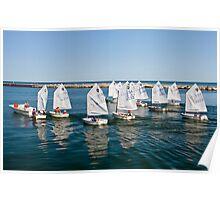 Junior Sailing Club, Lake Macatawa Yacht Club, Holland, MI Poster