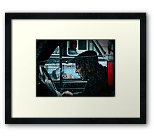 the taxi driver Framed Print