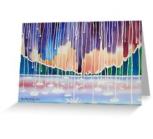 SHOWER VISIONS AT LAKE ALMANOR Greeting Card