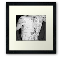 Body Maps - Body - Back Framed Print